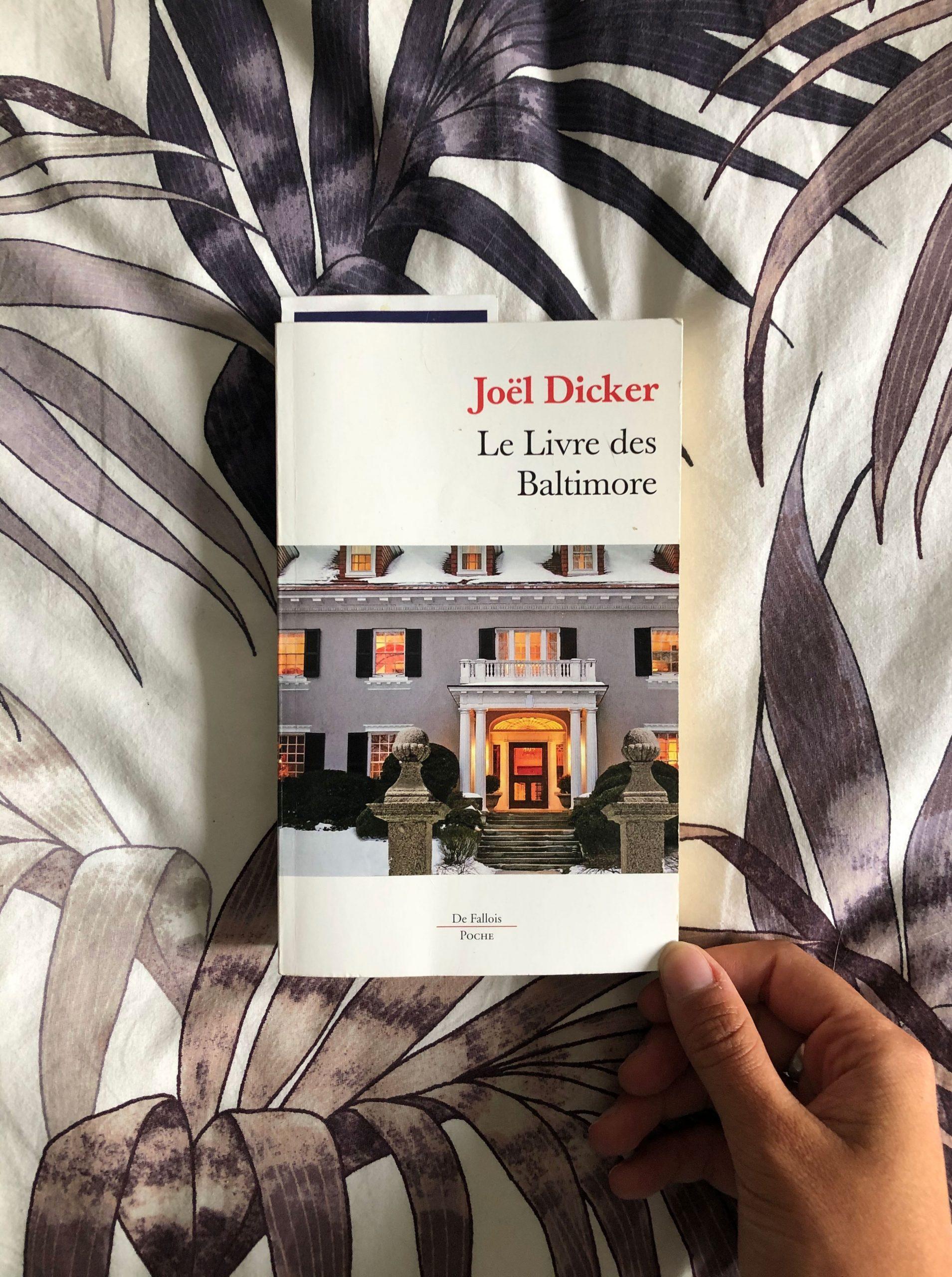July Book Club 2020 : Le livre des Baltimore de Joël Dicker